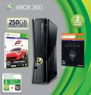 New Microsoft Xbox 360 Slim Console 250 GB Holiday Bundle w/ Skyrim