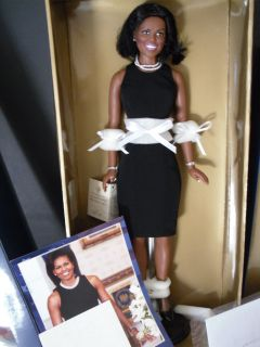 Michelle Obama Doll Franklin Mint MINT IN BOX Brand New Limited