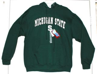 Michigan State Spartans Hoodie Green Size Large NWT