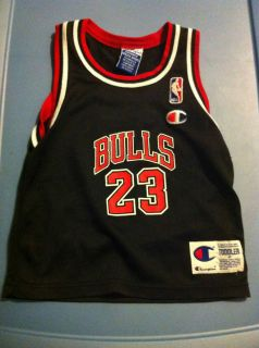 Michael Jordan 23 Black Chicago Bulls Jersey Toddler Size 4T