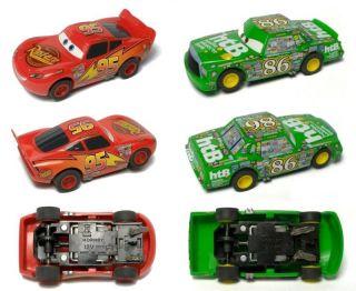 2009 Micro Scalextric Cars McQueen Hicks Slot Car Pair