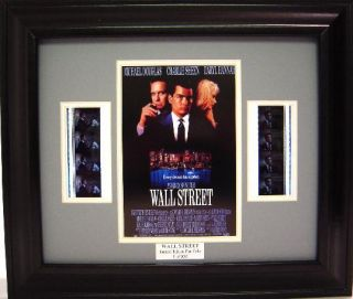 Wall Street Framed Film Cell Michael Douglas