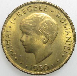 Romania Mihai I 20 Lei 1930 London UNC