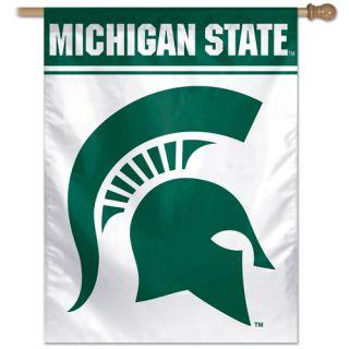 Michigan State University Spartans Green White Logo NCAA 27 x 37