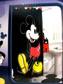 Disney Shower Curtain Mickey Mouse Set Of 12 Hooks 100 Cotton New 72 X