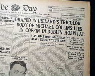 1922 Michael Collins Irish Free State Assassination Republican Army in