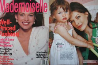 Young Milla Jovovich clippings Mademoiselle Early Cover