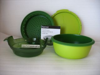 Tupperware Smart Steamer Microwave Cooker Green New