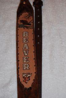Personalized Leather Rifle Sling Gun Sling Gun Strap Thumb Ring Made