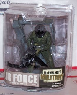 McFarlane Military Air Force Helicopter Gunner 6 inch Figure RARE