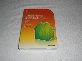 MICROSOFT MS OFFICE 2010 HOME AND STUDENT FULL VERSION 3 USERS PC NIB