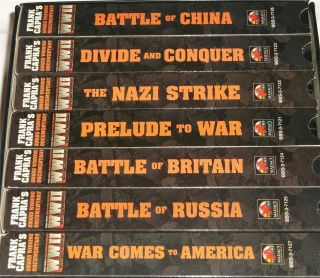 Frank Carpas WWII 7 VHS Special Edition World War II Historical