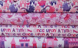 Half Yard Bundle, Michael Miller Princess, Castle Fairy Tale Girl Pink
