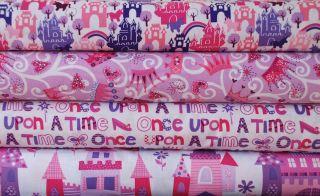 Half Yard Bundle, Michael Miller Princess, Castle Fairy Tale Girl Pink
