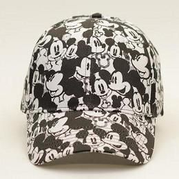 Mickey Mouse Kids Black and White Baseball Hat Cap