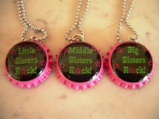 BIG SISTERS ROCK MIDDLE SISTERS ROCK LITTLE SISTERS ROCK BOTTLE CAP