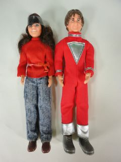 1970s Mattel Mork Mindy 9 Doll Action Figure Set UNPLAYED Clean