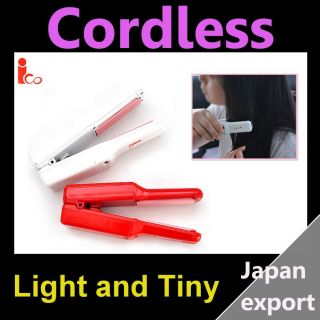 Battery Use Cordless Mini Hair Style Straightener Red Japan