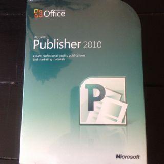 Microsoft Publisher 2010 Full Version Brand New 164 06233