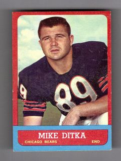 Mike Ditka 1963 Topps Card 62
