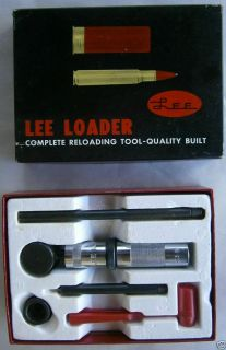 Vintage Lee Loader Kit Die Set 303 British Sizer Seater Reloading 1975