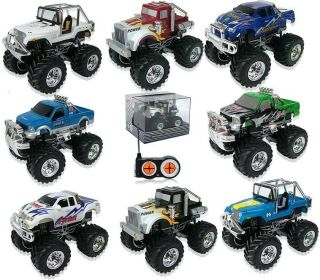Radio Control Mini Monster Truck Remote Controlled Pickup Jeep RC