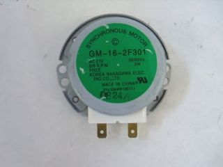 GM 16 2F301 AC21V 3W Microwave Turntable Motor Sharp Kenmore Whirlpool