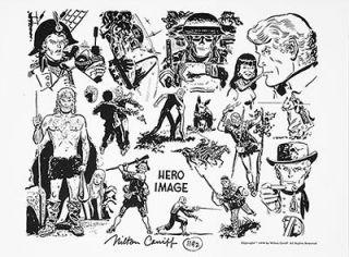 Milton Caniff RARE Hero Image Print Signed 1977 NCS B w Art NM NR