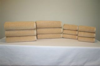 Set of Gold Color Velour Towels Made in The USA by 1888 Mills