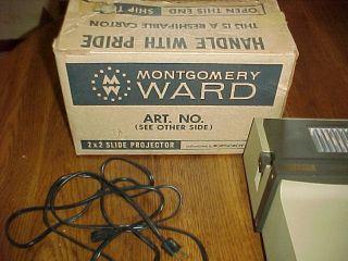 Vintage Slide Projector Montgomery Ward 2x2 insta load 67 626M 300watt