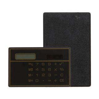 Digits Solar Power Thin Mini Card Style Calculator