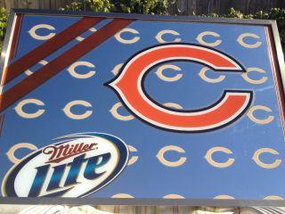 Chicago Bears NFL Miller Lite Mirror 37x25