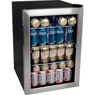 Steel Beverage Center Fridge ~ EdgeStar Drink Cooler Mini Refrigerator