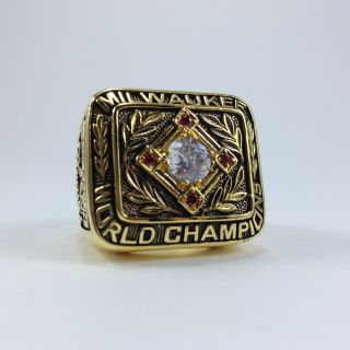 1957 Milwaukee Braves Championship World Series Ring Hank Aaron Jersey