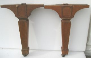 Large Pair of Mahogany Antique Table Piano Organ Legs C
