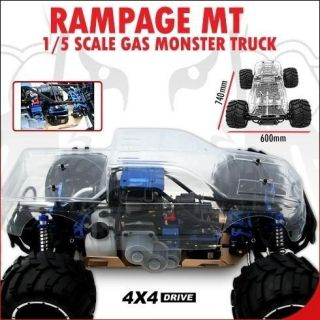 Rampage MT 1 5 Scale Gas Truck 30cc off road sand 4x4 RTR RC Video