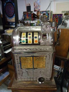 Mills 5 Cent Gooseneck Cast Iron Antique Slot Machine