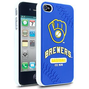 iPhone 4 4S Milwaukee Brewers Faceplate Protective Hard Case Cover MLB