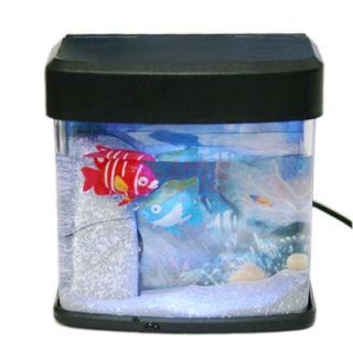 Mini USB Aquarium Fish Light Tank Desktop Powered Office Computer PC