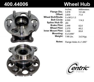 Centric Parts 400.44006 Axle Bearing and Hub Assembly