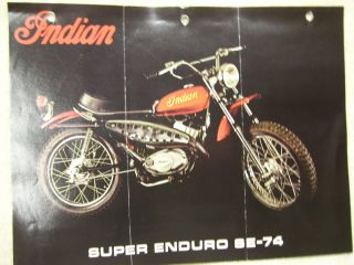 Vintage Indian Motorcycle Mini Bike Brochure SE 74