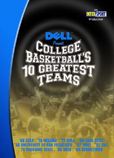 College Basketballs 10 Greatest Games DVD, 2006