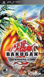 Bakugan Battle Brawlers Defenders of the Core PlayStation Portable