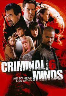 Criminal Minds Season 6 DVD, 2011, 6 Disc Set