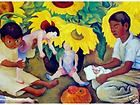 MEXICAN ARTIST DIEGO RIVERA LITHO TRYPTICH RUDOLF LESCH FINE ARTS