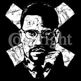 Malcolm X ~S~3XL Pro Screen Print High quality Shirts