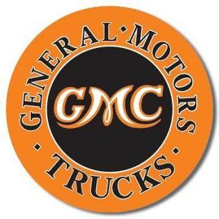 MOTORS GMC TRUCKS ROUND TIN METAL SIGN (Fits 1972 Monte Carlo