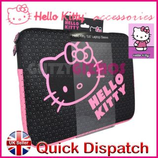 15 15.4 15.6 HELLO KITTY CASE BAG COVER FOR TOSHIBA SONY DELL SHARP