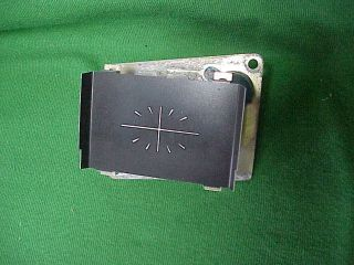 1967 67 Dodge Coronet RT 500 Dash Clock Blank (Fits 1967 Dodge