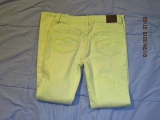 Justice Skinny Jeans Funky Lime Green Color